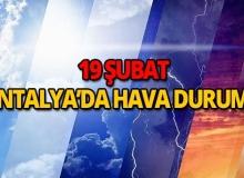 19 Şubat 2019 Antalya hava durumu