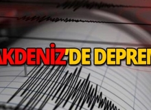 Akdeniz'de 4 büyüklüğünde deprem!