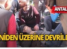 Antalya'da bina yıkımında görünmez kaza!