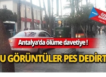 Antalya'da şoke eden yol kavgası görenlere pes dedirtti!