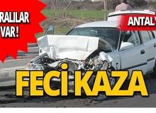 Antalya'da park halindeki otomobile çarptı: Yaralılar var!