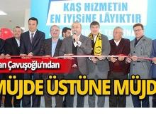 Bakan Çavuşoğlu'ndan Kaş'a müjdeli haber!
