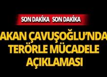 Bakan Çavuşoğlu'ndan terörle mücadele çıkışı!