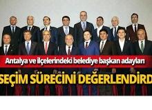 CHP ve İYİ Parti'nin Antalya adayları bir araya geldi