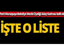 AK Parti Antalya Muratpaşa Belediye Meclis Üyeleri Aday listesi belli oldu