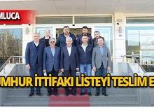 Kumluca'da Cumhur İttifakı meclis listesini teslim etti