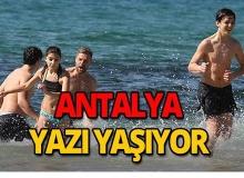 Yurt genelinde kar kış, Antalya'da yazdan kalma günler!
