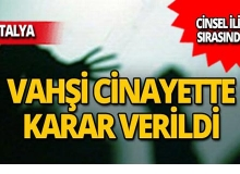 Antalya'da cinsel ilişki sırasında cinayette flaş karar!