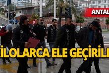 Antalya'da inşaat malzemelerinin arasına gizlediler!