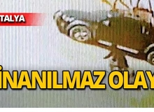 Antalya'da motosikletli genç ölümden döndü!