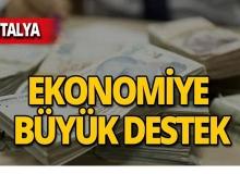 Antalya ekonomisine 9 milyon liralık katkı!