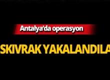 Antalya'da yabancı uyruklu şahıslar tutuklandı!