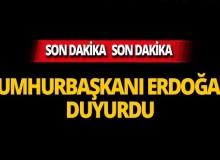 Cumhurbaşkanı Erdoğan önemli kararı duyurdu!