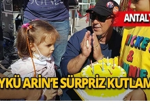 Lösemi hastası Öykü Arin'e sürpriz kutlama!