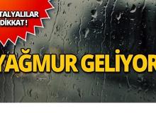 Meteoroloji Antalya için uyardı: Yağış bekleniyor!