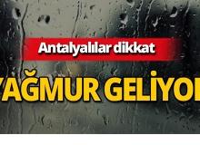 Meteoroloji Antalya'nın o ilçeleri için uyardı!