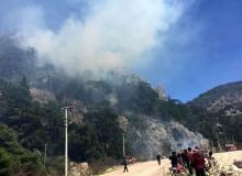 Olympos'ta çıkan orman yangını söndürüldü