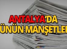 24 Nisan 2019 Antalya'nın yerel gazete manşetleri