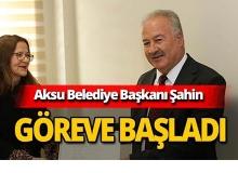 Aksu Belediye Başkanı mazbatasını aldı