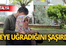 Antalya'da belediye çalışanına hayatının şokunu yaşattı!
