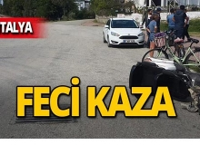 Antalya'da turiste elektrikli bisiklet çarptı!