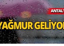 Dikkat! Antalya için yağış uyarısı!