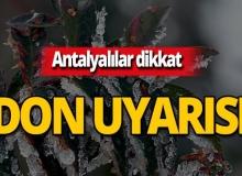 Dikkat! Meteoroloji'den Antalya için don uyarısı