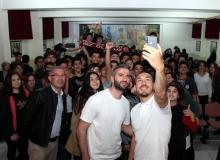 Mevlüt Erdinç'ten öğrencilere gol sözü