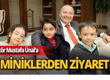 Rektör Mustafa Ünal minikleri ağırladı