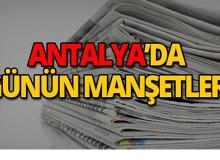 8 Mayıs 2019 Antalya'nın yerel gazete manşetleri