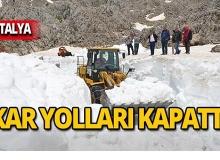 Antalya'da karla mücadele!