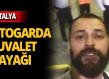 Antalya Otogarı'nda müzisyene tuvalet dayağı!