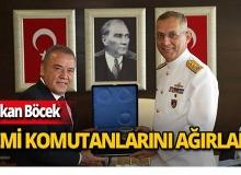 Başkan Böcek, tatbikata katılan gemi komutanlarını ağırladı