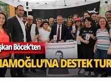 Başkan Böcek'ten İmamoğlu'na destek!
