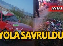 Feci kaza: Sürücü yaralandı!