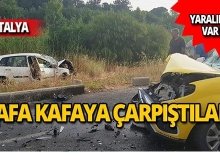Taksi ile otomobil çarpıştı: Yaralılar var!