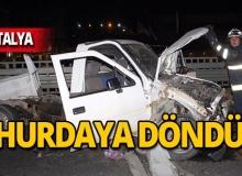 Tur otobüsü kamyonete çarptı: Yaralılar var!