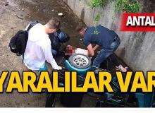 Turistler kanala düştü: Yaralılar var!