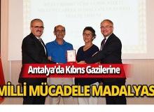 Vali Karaloğlu, Kıbrıs Gazilerine Milli Mücadele Madalyası verdi