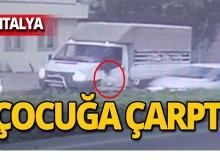 8 yaşındaki çocuğa otomobil çarptı!