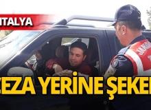 Antalya'da jandarmadan ceza yerine şeker