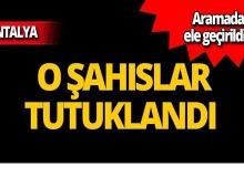 Antalya'da operasyon: 3 tutuklama!
