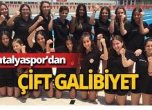 Antalyaspor'da çift galibiyet