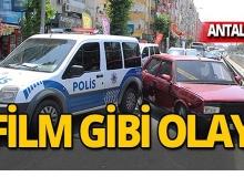Polisten kaçarken polis aracına çarptı!