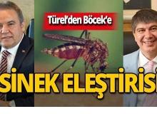 Türel'den Böcek'e sinek eleştirisi!