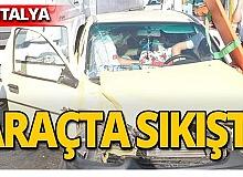 Antalya'da kaza! Yaralılar var