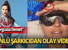 Demet Akalın'ın bu videosu olay oldu!