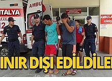 Antalya'da bıçaklı kavga! Sınır dışı edildiler