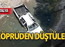 Köprüden düştüler: 1 ölü, 1 yaralı!