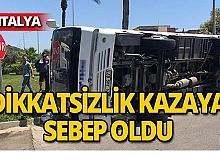 Midibüs kazası ucuz atlatıldı